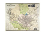 Plan of Bristol and its Suburbs, Reduced from the Original Survey of the Late J. Plumley,… Giclee Print