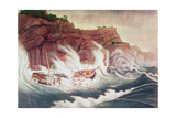 Loss of the Packet Ship Albion, Engraved by C. Tiebout Giclee Print by Thomas Birch