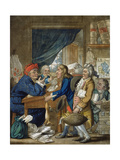 A Country Attorney and His Clients, Pub. by Bowles and Carver, 1800 Lámina giclée por Robert Dighton
