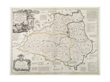 Map of Durham, 1777 Giclee Print by Thomas Kitchin