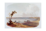 Entry to the Bay of New York, Staten Island, Engraved by Salathe Stampa giclée di Karl Bodmer