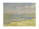 View of the River Scheldt, 1893 Gicléetryck av Théo van Rysselberghe