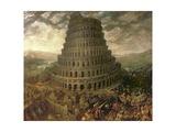Der Turmbau Zu Babel Giclée-Druck von Tobias Verhaecht