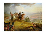 An Incident at the Battle of Waterloo in 1815 Reproduction procédé giclée par Thomas Jones Barker