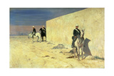 The Watch (The White Wall), C.1871 Giclée-tryk af Giovanni Fattori