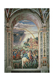 The Departure of Aeneas Silvius Piccolomini for Basel, C.1503-8 Giclée-tryk af Bernardino di Betto Pinturicchio