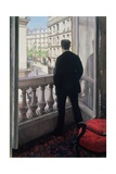 Man at the Window. 1875 Reproduction procédé giclée par Gustave Caillebotte