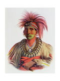 Nowaykesugga, an Otto, Illustration from 'The Indian Tribes of North America, Vol.3', by Thomas… Giclee Print by Charles Bird King