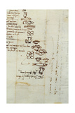 Three Different Lists of Foods Described with Ideograms, 1518 Giclee Print by  Michelangelo Buonarroti