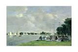 Regatta at Argenteuil, 1866 Reproduction procédé giclée par Eugène Boudin