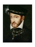 Portrait of Henri II (1519-59) Giclée-tryk af Francesco Primaticcio