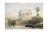 The Hypaethral Temple at Philae, Called the Bed of Pharaoh, Engraved by Louis Haghe, Pub. in 1843 Giclée-tryk af David Roberts