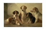Perros de caza Lámina giclée por Edward Robert Smythe