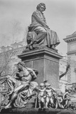Monument to Ludwig Van Beethoven, the Composer Seated on a Pedestal Above Figures Alluding to the… Photographic Print