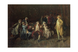 London Jacobites Receiving News of the Prestonpans Giclee Print by George Ogilvy Reid