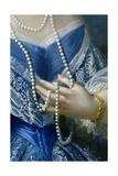 Portrait of a Woman (Detail) Reproduction procédé giclée par Franz Xaver Winterhalter
