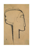 Head in Profile Giclée-tryk af Amedeo Modigliani