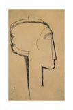 Testa di profilo Stampa giclée di Amedeo Modigliani