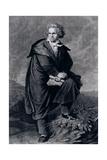 Ludwig Van Beethoven (1770-1827), German Composer, Engraved by Paul Barfus (1823-95) Giclee Print by P. Schworer