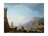Morning Scene in a Bay, 1752 Giclée-Druck von Claude Joseph Vernet