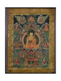 Thangka of Shakyamuni Buddha with Eleven Figures, 19th-20th Century Giclée-vedos