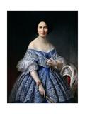 Portrait de femme Reproduction procédé giclée par Franz Xaver Winterhalter