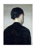 Seated Figure, Seen from Behind (Anna Hammershoi) 1884 Giclée-tryk af Vilhelm Hammershoi