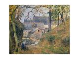 A Farm at Montfoucault, 1894 Reproduction procédé giclée par Camille Pissarro