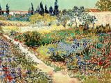 The Garden at Arles, 1888 ジクレープリント : フィンセント・ファン・ゴッホ