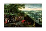 Rudolf II (1552-1612) and the Drunkard, 1593 Giclée-Druck von Lucas van Valckenborch