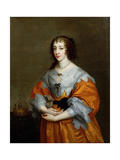 Portrait of Queen Henrietta Maria (1609-69) Giclée-Druck von Sir Anthony Van Dyck