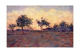 Sunset (Coucher De Soleil) 1881 Reproduction procédé giclée par Georges Seurat