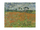 Field of Poppies, Auvers-Sur-Oise, 1890 Reproduction procédé giclée par Vincent van Gogh