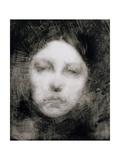 Head of a Young Girl, 1890 Reproduction procédé giclée par Eugene Carriere