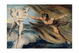 Good and Evil Angels Struggling for the Possession of a Child, C.1793-94 Lámina giclée por William Blake
