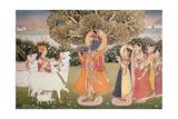 Eighth Incarnation of Vishnu as Krishna: Playing to the Gopis Giclee Print