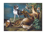 Still Life of Dead Game with Hounds, 1730 Giclee Print by Alexandre-Francois Desportes