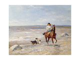 Pony Ride on the Beach Giclee Print by Heywood Hardy