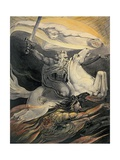 Death on a Pale Horse, C.1800 Lámina giclée por William Blake