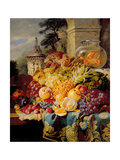 Still Life of Fruit on a Ledge with a Goldfish Bowl, 1876 Giclee Print by William John Wainwright
