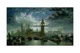 A View of Westminster Abbey and the Houses of Parliament, 1870 Giclee Print by John Macvicar Anderson