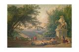Terrace Ruins in a Park, C.1780 Giclee Print by Hubert Robert