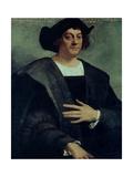 Christopher Columbus (1451-1506) Giclée-tryk af Sebastiano del Piombo