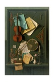 The Old Cupboard Door, 1889 Giclée-tryk af William Michael Harnett