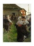Midsummer Dance, 1897 Giclée-tryk af Anders Leonard Zorn