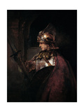 A Man in Armour, 1655 Giclée-tryk af  Rembrandt van Rijn