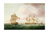 British Frigates Off Dover Giclee Print by Thomas Whitcombe