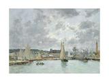 Trouville Harbour, 1880 Reproduction procédé giclée par Eugène Boudin
