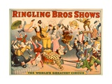 Circus Poster: Ringling Bros Shows - the World's Greatest Circus Giclee Print