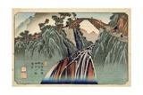 Inagawa Bridge at Nojiri (Nojiri Inagawa Bashi Enkei) Pub. by Hoeido and Kinjudo, Late 1830's Giclee Print by Keisai Eisen